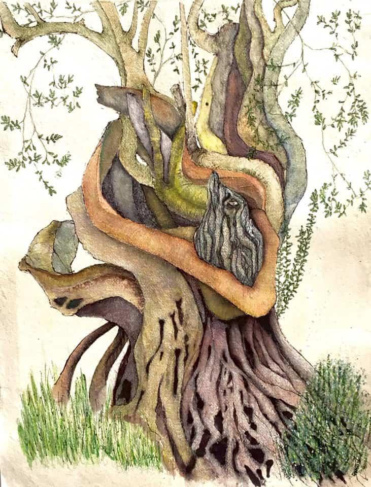 Los árboles parlantes de Mary-Lynne Stadler en Aubergine Ibiza