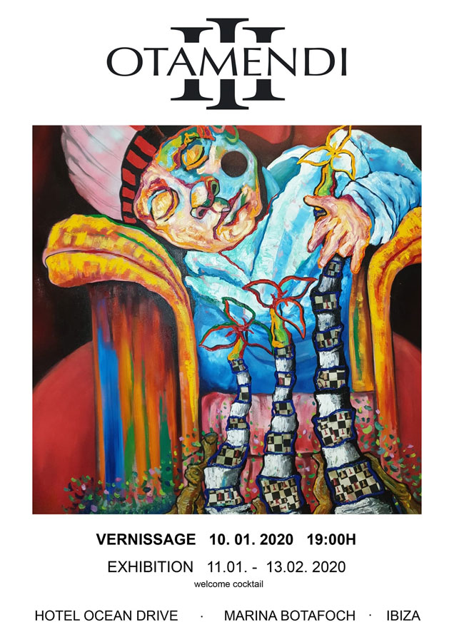 Otamendi III exhibition at OD Ocean Drive Ibiza