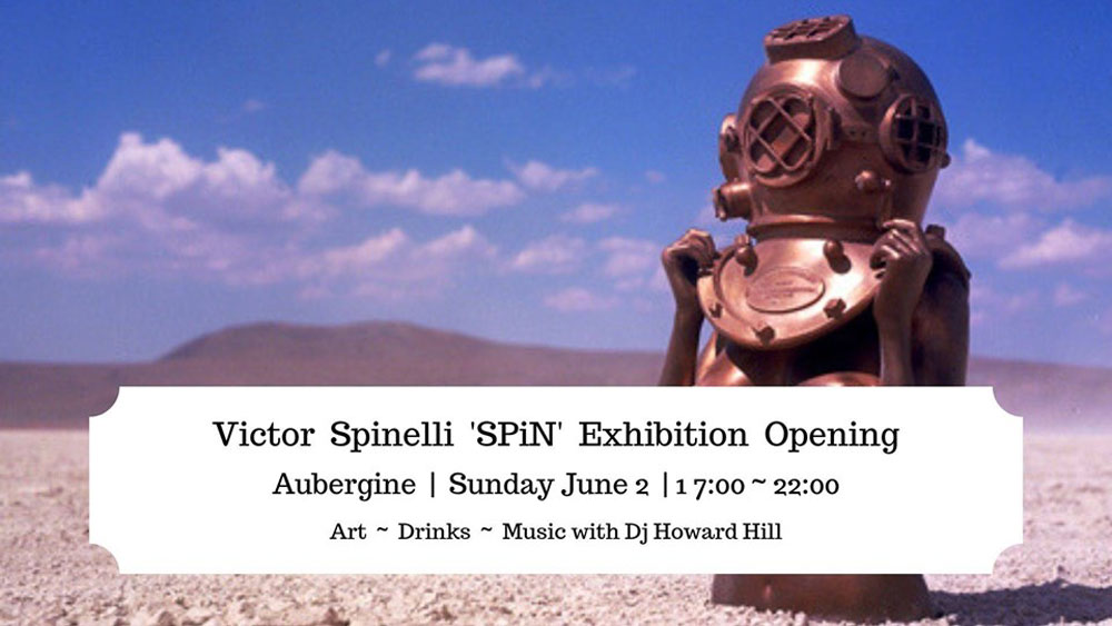 Exhibition of Victor Spinelli at the restaurant Aubergine Ibiza