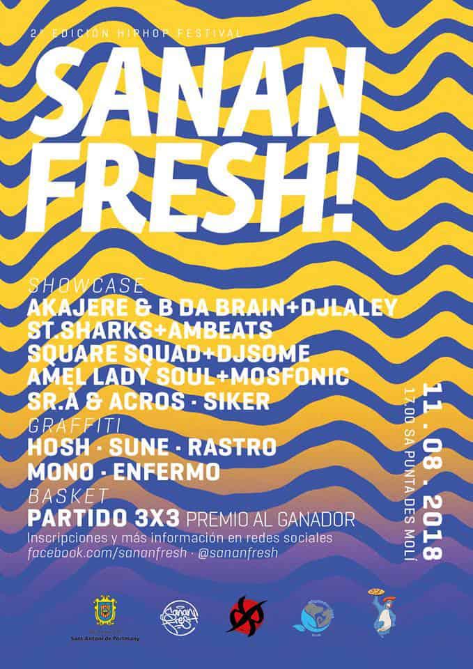 Второй Sanan Fresh: фестиваль хип-хопа под открытым небом в Са Пунта де Моли