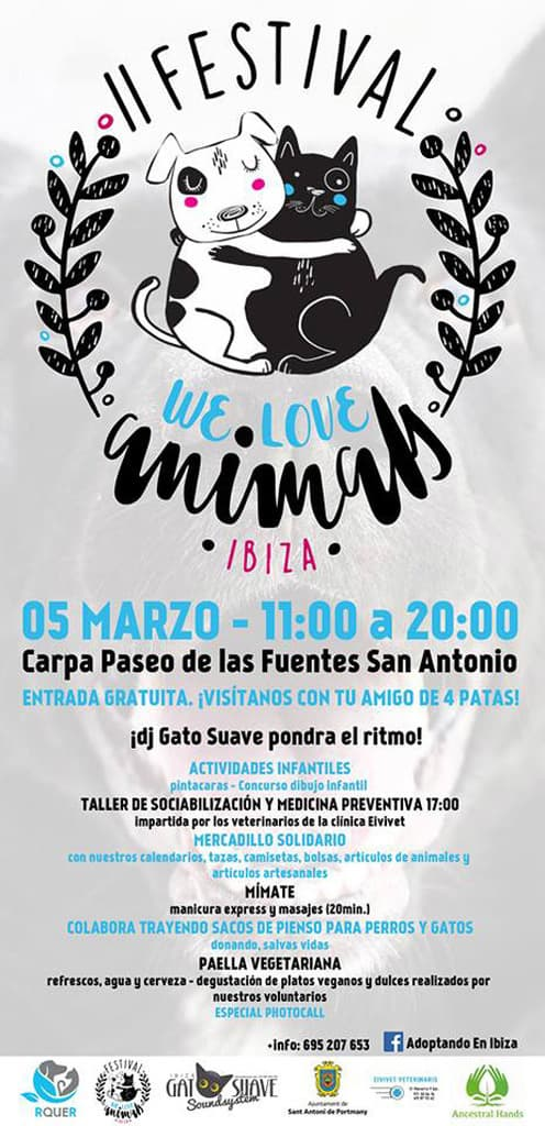 ¿Amant dels animals? No et perdis el IV Festival We Love Animals Eivissa