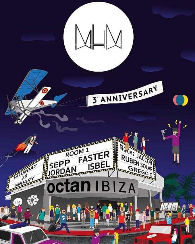 MuM празднует свою третью годовщину на Октан Ибица