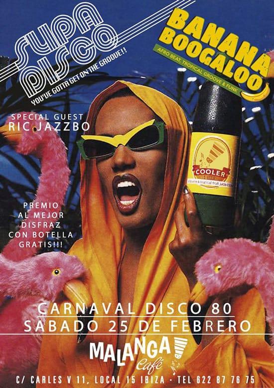 Суббота, полная ритма, с карнавальной дискотекой Malanga Café Ibiza