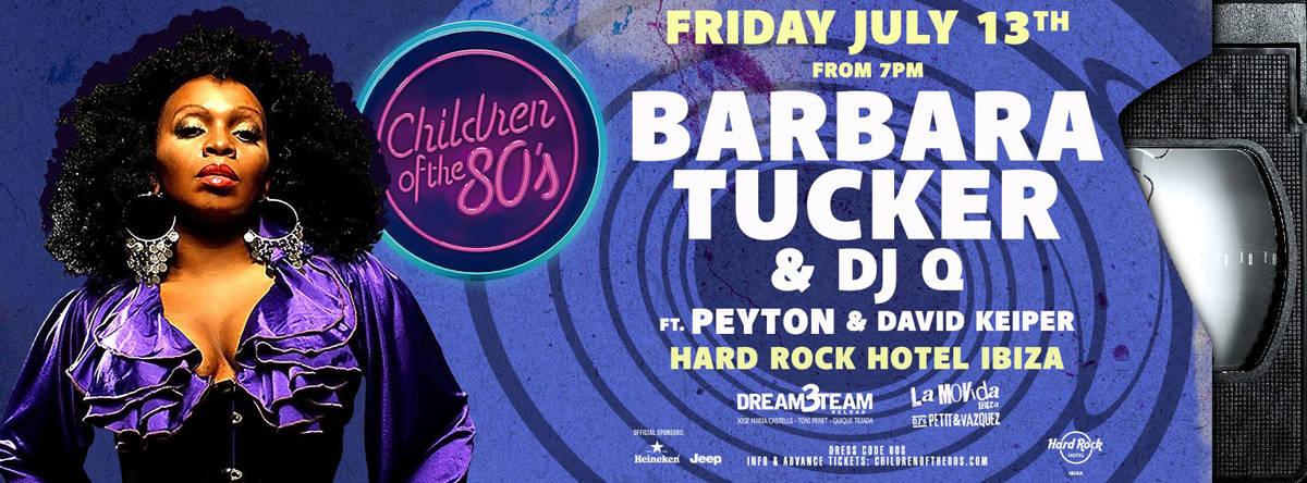 Barbara Tucker & Dj Q at Children of the 80's at Hard Rock Hotel Ibiza
