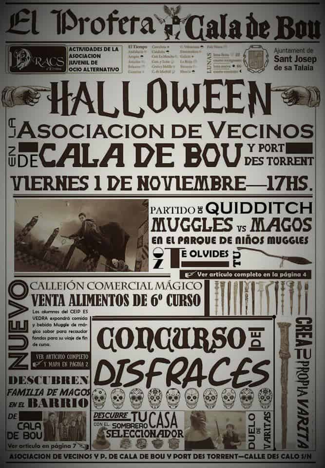 Fiesta de Halloween en Cala de Bou