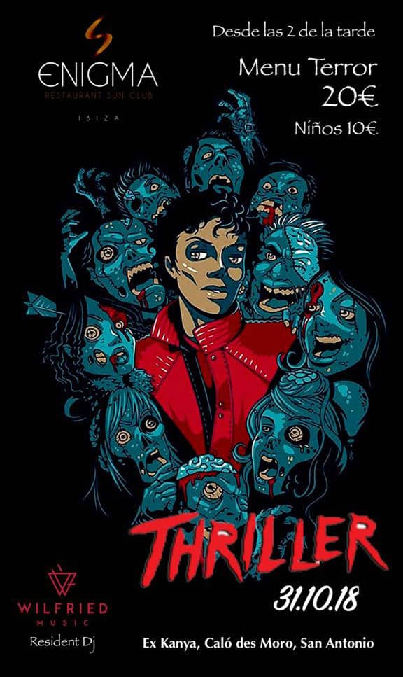 Tributo alla festa di Halloween per Michael Jackson in Enigma Ibiza