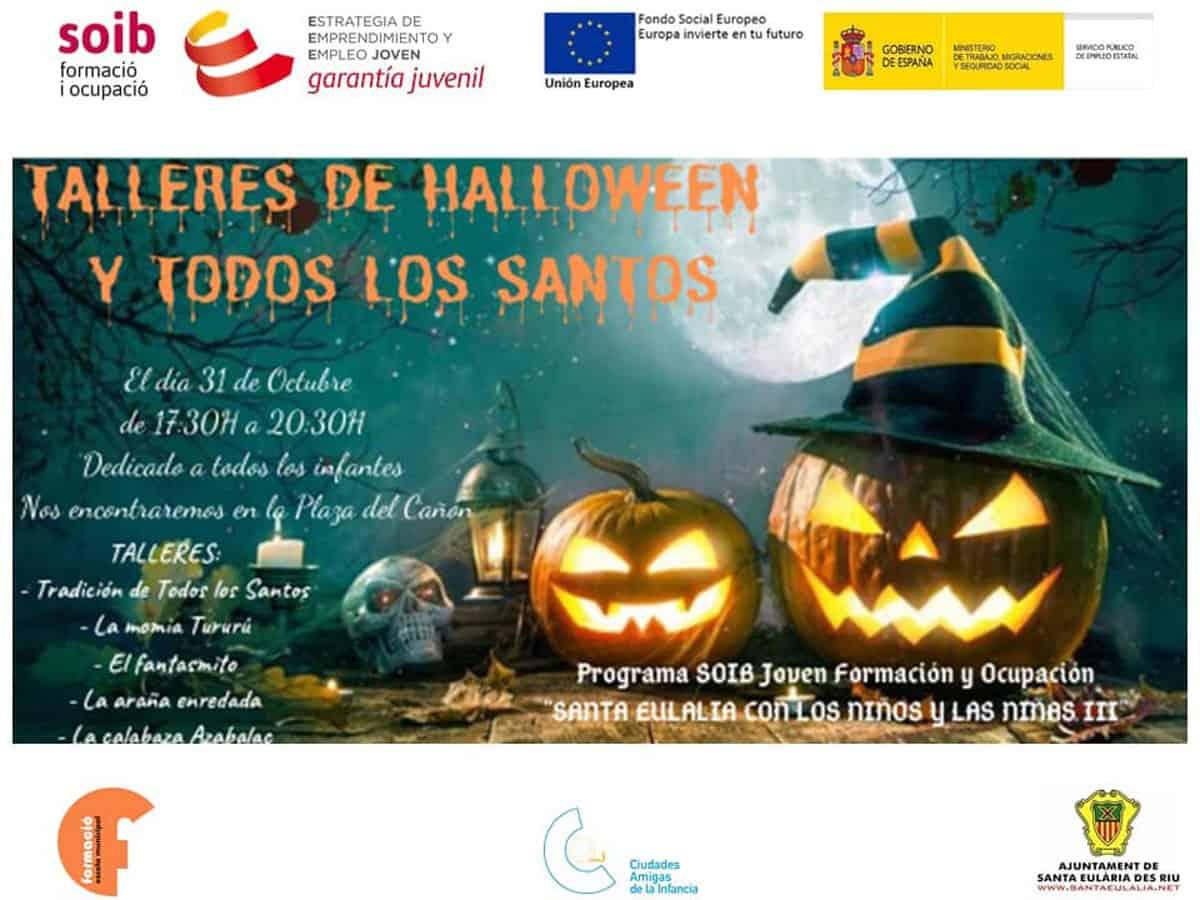 Workshops zu Halloween und Allerheiligen in Santa Eulalia