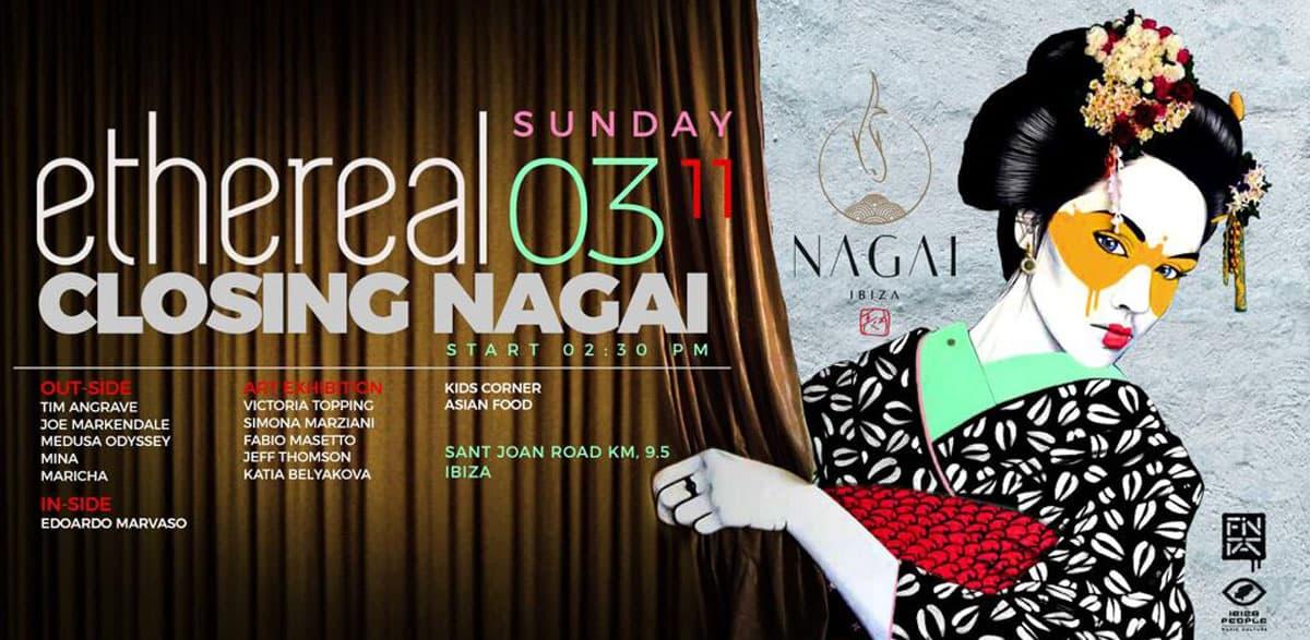 Ethereal Party per celebrare la chiusura di Nagai Ibiza