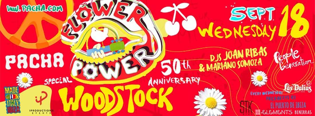 Fleuriste Tribute to Woodstock à Pacha Ibiza