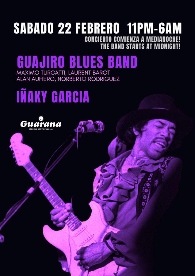 Guajiro Blues Band und Iñaky García am Samstag in Guarana