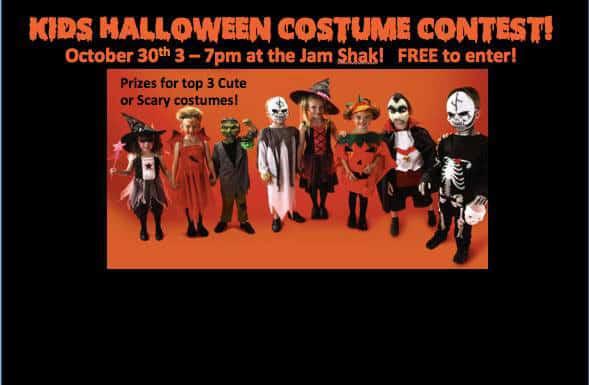 Хэллоуин вечеринка и конкурс костюмов для детей и собак в Джам Шак