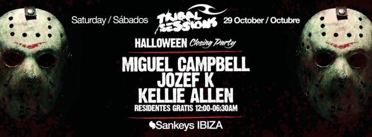 Племенные Сессии празднуют свое закрытие с Halloween Party на Sankeys Ibiza