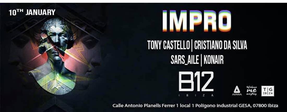 New Impro Ibiza session at the B12 Ibiza club