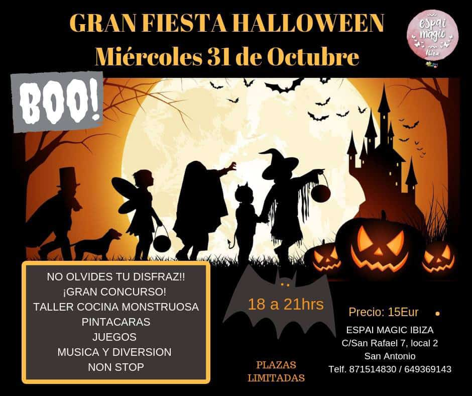 Festa di Halloween per bambini in Espai Magic Jumping Clay Ibiza