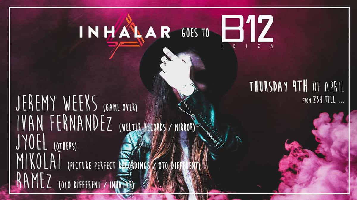 The party Inhale on Thursday at the B12 Ibiza club