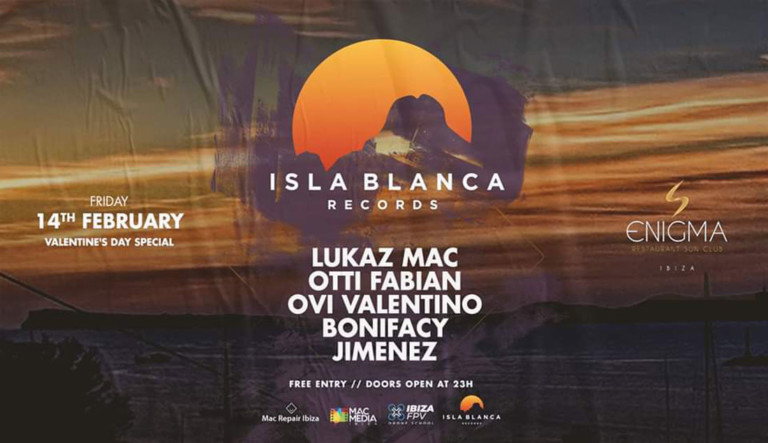 Вечеринка Исла Бланка Рекордс на праздновании Дня святого Валентина в Enigma Ibiza
