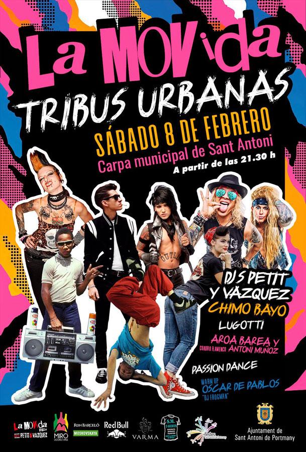 Звезда Городских Племен на фестивале La Movida Ibiza в Праздниках Сан-Антонио