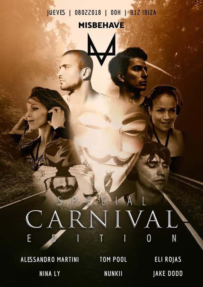 Очень особенный карнавал в этот четверг на B12 Ibiza с Misbehave