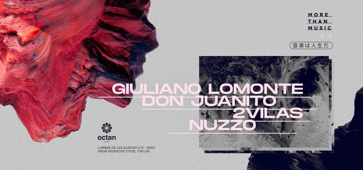 Вечеринка «Больше, чем музыка» с Джулиано Ломонте в Октане Ибица