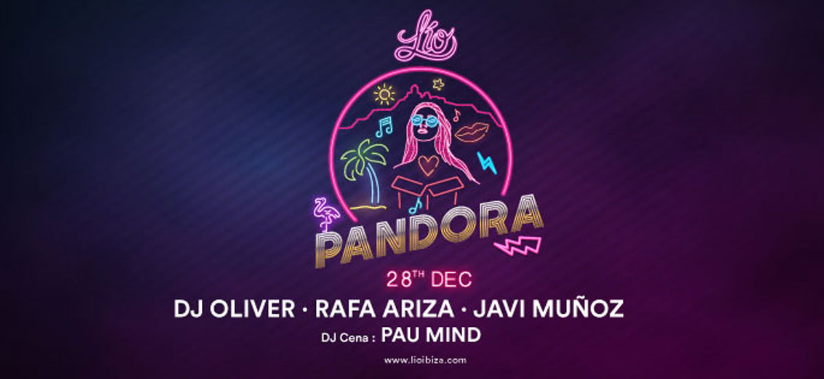 Pandora Party am letzten Samstag des Jahres in Lío Ibiza