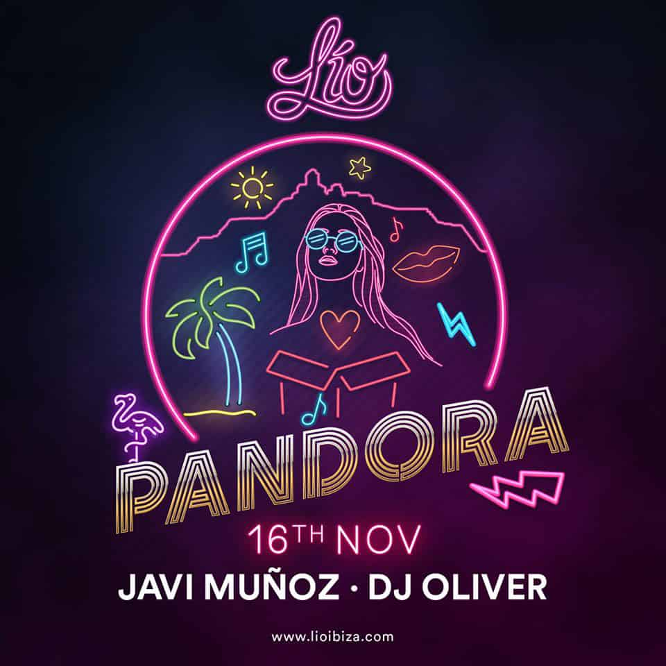 Pandora aux commandes du samedi à Lío Ibiza