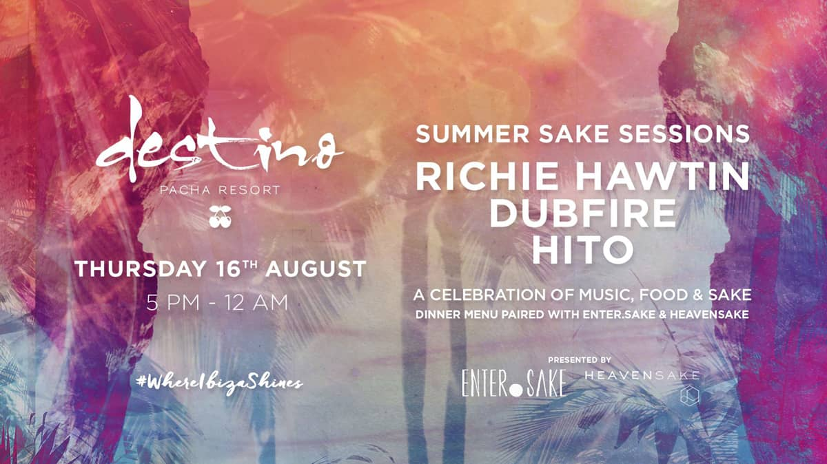 Richie Hawtin at Destino Ibiza with the appointment Summer Sake Sessions
