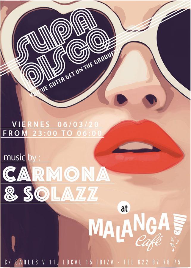 Freitag der Supa Disco im Malanga Café Ibiza