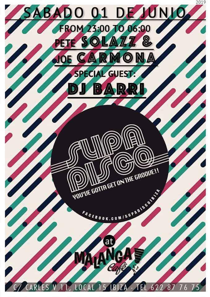 Der März beginnt mit der Supa Disco im Malanga Café Ibiza