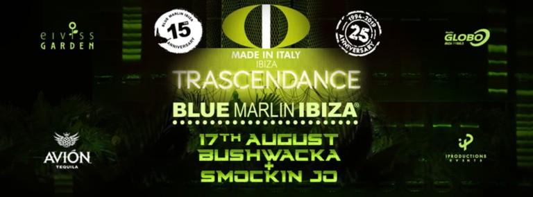 Trascendance con Bushwacka! y Smokin Jo en Blue Marlin Ibiza