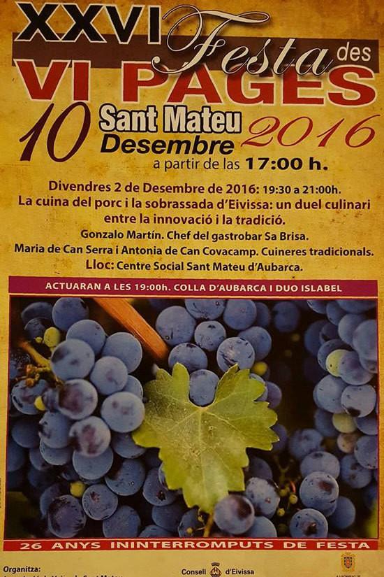 Fiesta del Vino Payés en San Mateo: el sabor de la Ibiza más auténtica