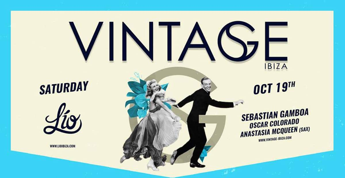 Vintage at the controls of the first winter Saturday in Lío Ibiza