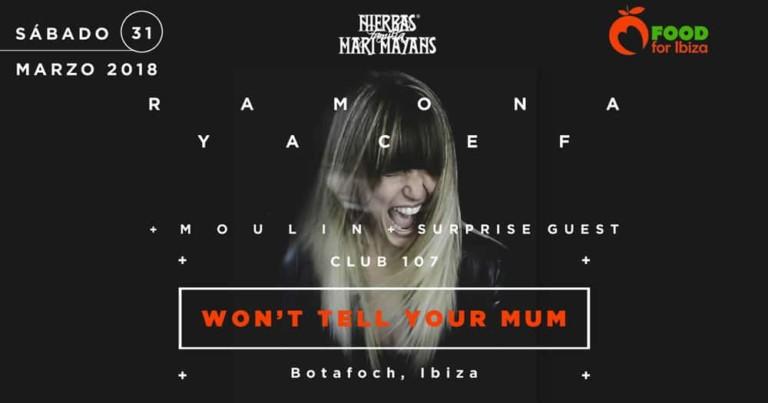 Je ne le dirai pas à votre mère: fête au profit de Food For Ibiza au Club 107 Ibiza