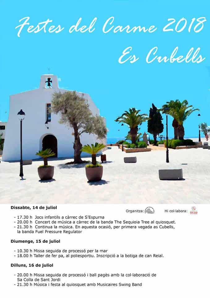 Fiestas del Carmen en el pueblo de Es Cubells