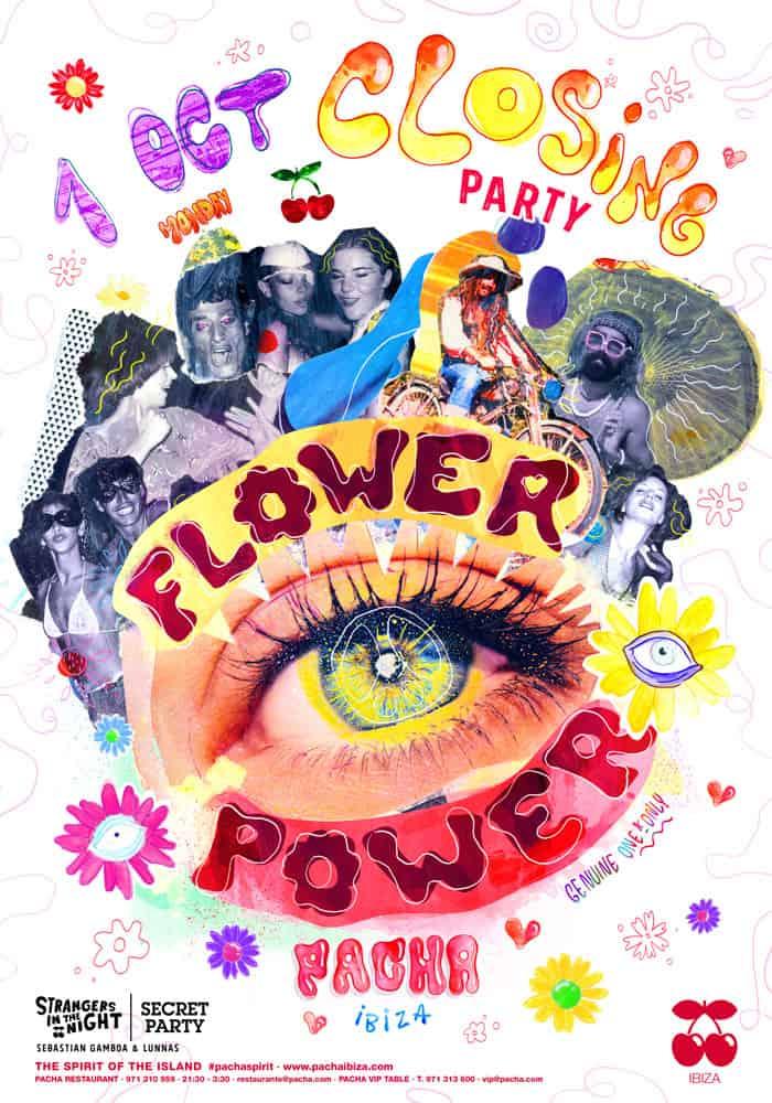Закрытие вечеринки Flower Power в Паша Ибица