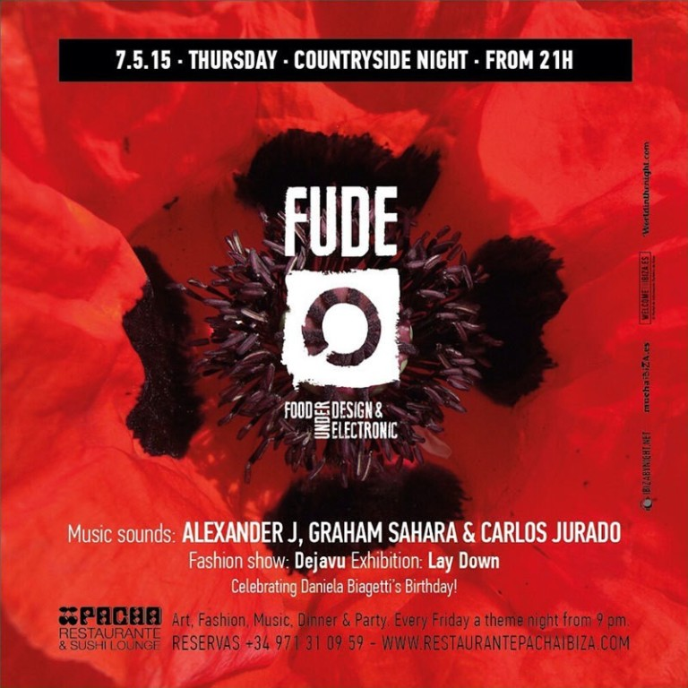 Velada campestre este jueves en Fude en Pacha Ibiza