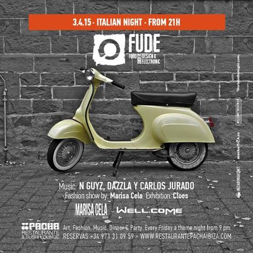 Noche italiana en Fude este viernes en Pacha Ibiza