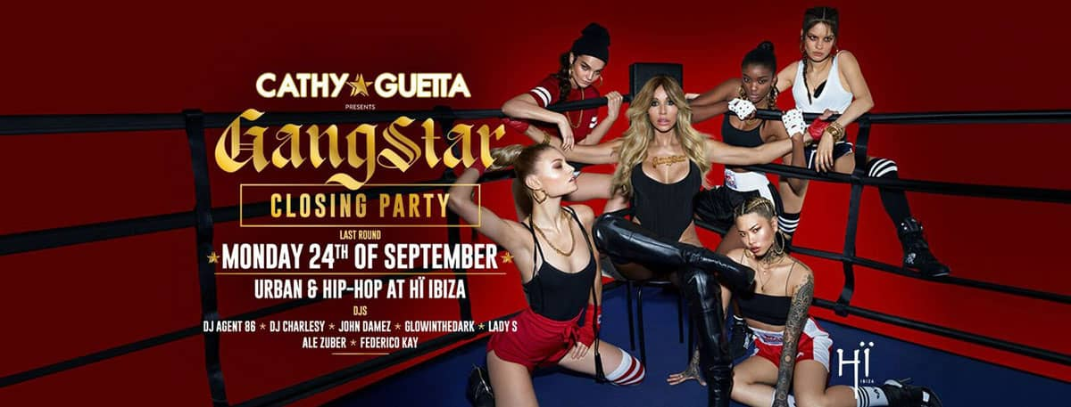 GangStar на закрытии вечеринки Кэти Гетты в Хи Ибице