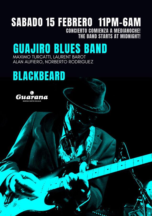 Guajiro Blues Band и Черная Борода в субботу в Гуаране