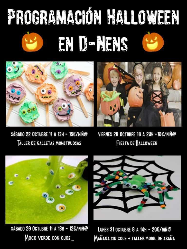 Много мероприятий Хэллоуина для детей в D-Nens Ibiza