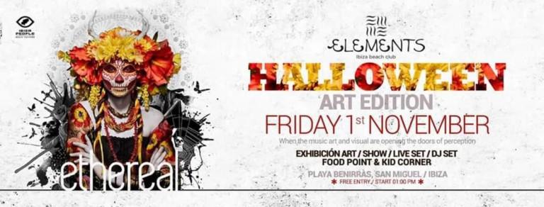 Halloween Art Edition con Ethereal en Elements Ibiza