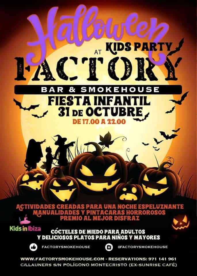 Halloween Kinderparty in der Factory Bar & Smokehouse