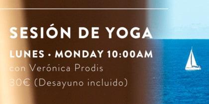 Yoga et petit-déjeuner à l'Hostal La Torre Ibiza pour commencer la semaine en prenant soin de vous Conscious Ibiza Events