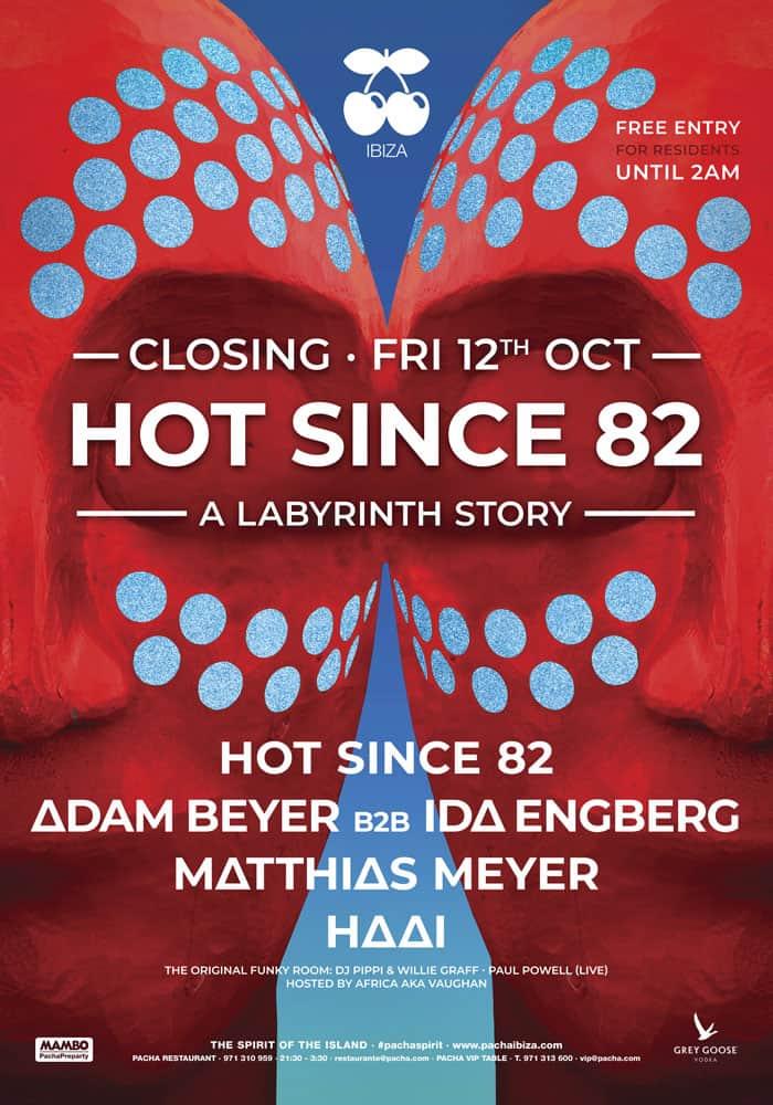 Лабиринтная история от Hot With 82 на вечеринке Pacha Ibiza