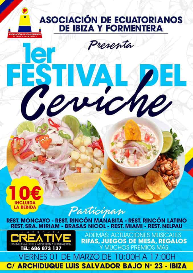 Are you passionate about ceviche? Do not miss the First Ceviche Festival in Ibiza