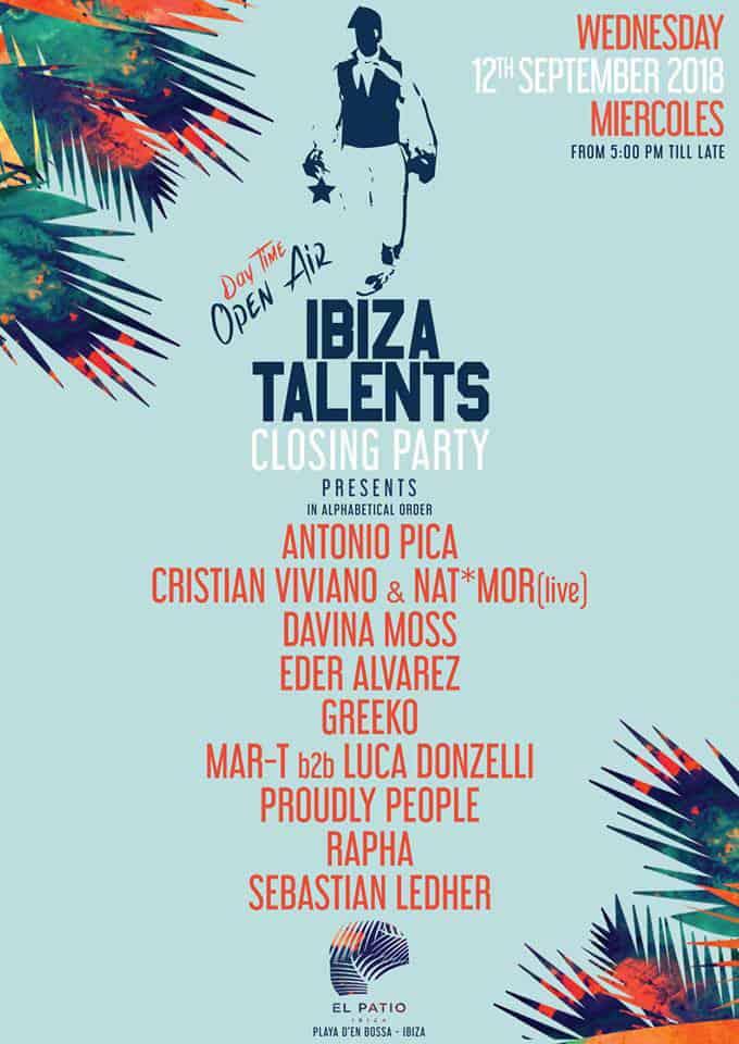 Закрытие Ibiza Talents в El Patio Apartments Бора Бора Ибица