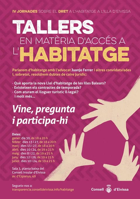 IV Conference on the Right to Housing of the Consell de Ibiza