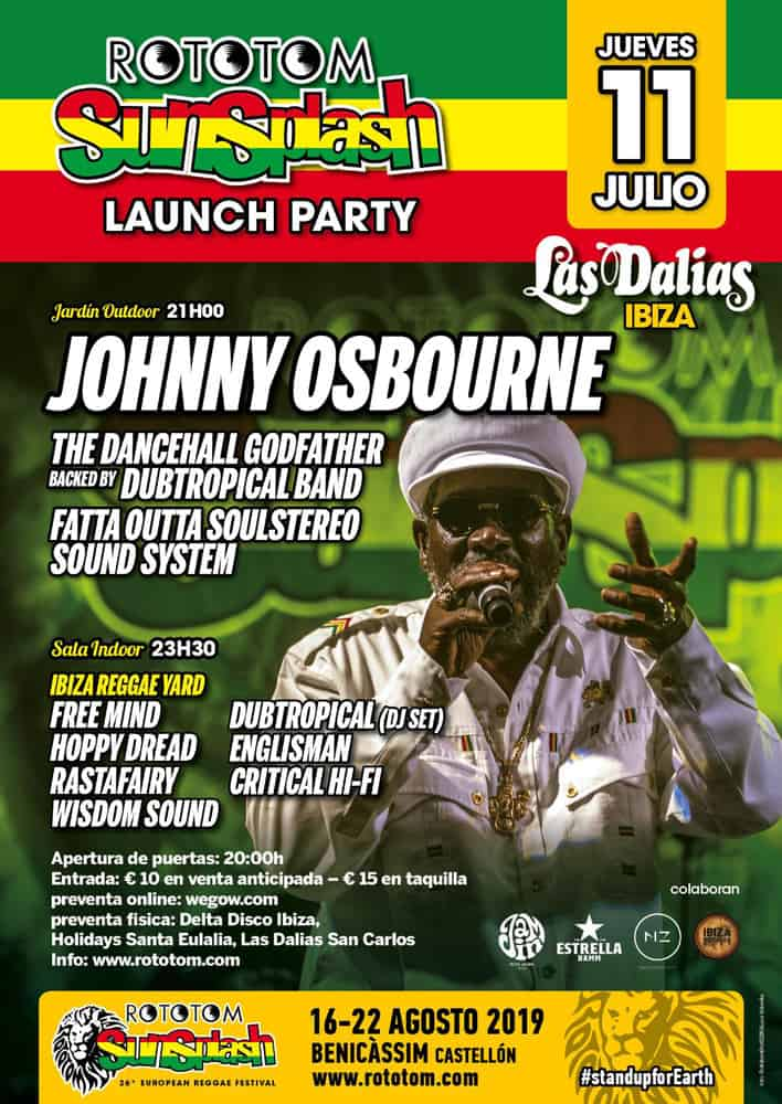 Johnny Osbourne at the Rototom Sunsplash Launch Party at Las Dalias Ibiza