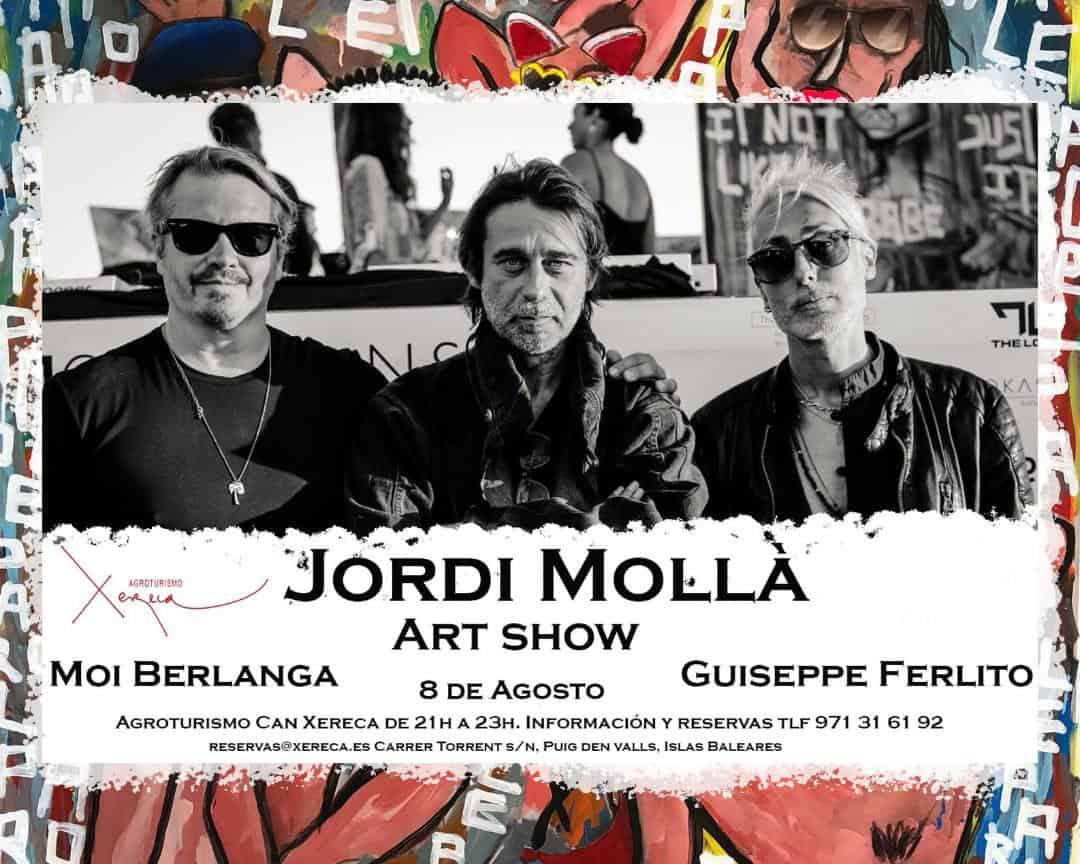 Jordi Mollà au coucher du soleil Les sons de Xereca Ibiza