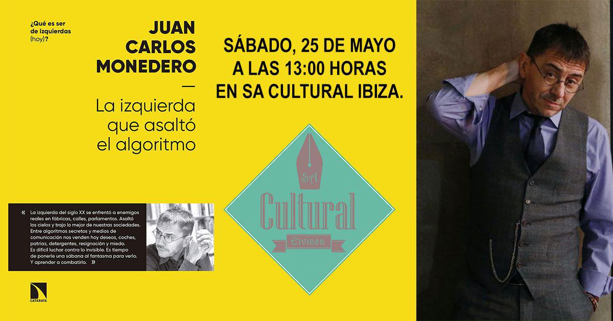 Juan Carlos Monedero visits Sa Cultural Ibiza