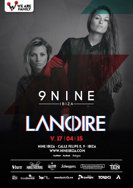 Lanoire ce vendredi à Nine Ibiza